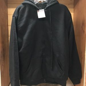 Other - Espada Hooded Wool like lined jacket Black zip-up
